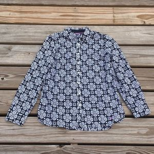 NWT Talbots printed button down top